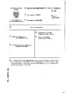 Stop na osnowie kobaltu : opis patentowy nr 158373