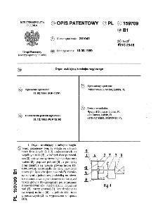 Organ urabiający kombajnu węglowego : opis patentowy nr 159709