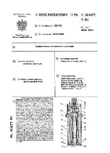 Szybkoobrotowe elektrowrzeciono szlifierskie : opis patentowy nr 161477