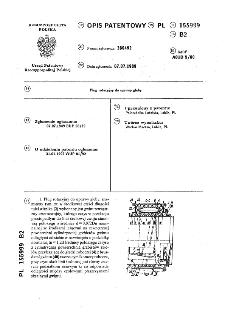 Pług rotacyjny do uprawy gleby : opis patentowy nr 155999