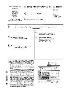 Sposób otrzymywania powłok galwanicznych i urządzenie do otrzymywania powłok galwanicznych : opis patentowy nr 156317