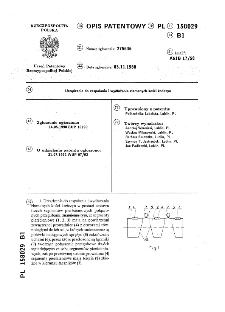Urządzenie do zespalania i wydłużania złamanych kości kończyn : opis patentowy nr 158029