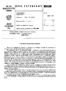 Przyrząd do obciągania tarcz ściernych : opis patentowy nr 108658