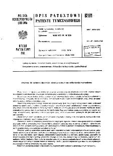 Przyrząd do badania odporności płodów rolnych na uszkodzenia mechaniczne : opis patentowy patentu tymczasowego nr 82971
