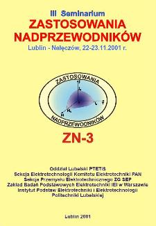 Zastosowania nadprzewodników : III seminarium, Lublin - Nałęczów, 22-23.11.2001 r.