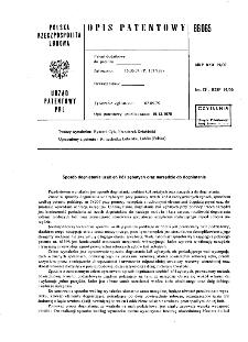 Sposób dogniatania uzębień kół zębatych oraz narzędzie do dogniatania : opis patentowy nr 86065