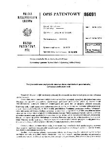 Tulejka zaciskowa sprężysta do mocowania na obrabiarkach przedmiotów, zwłaszcza cienkościennych : opis patentowy nr 86091