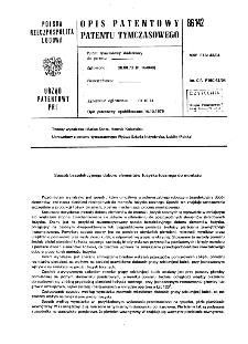 Sposób bezselekcyjnego doboru elementów łożyska tocznego do montażu : opis patentowy patentu tymczasowego nr 86142