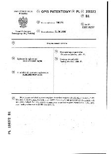 Stop na osnowie kobaltu : opis patentowy nr 158372