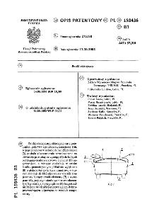 Prodiż elektryczny : opis patentowy nr 158436
