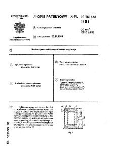 Głowica organu urabiającego kombajnu węglowego : opis patentowy nr 161455