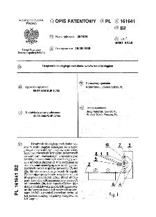Urządzenie do ciągłego rozładunku wozów w ruchu ciągłym : opis patentowy nr 161641