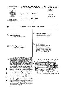 Szybkoobrotowe elektrowrzeciono szlifierskie : opis patentowy nr 161648