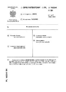 Stop na osnowie kobaltu : opis patentowy nr 162241