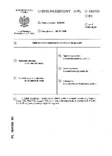 Spiek ceramiczno-metalowy na okładziny cierne sprzęgieł : opis patentowy nr 164100