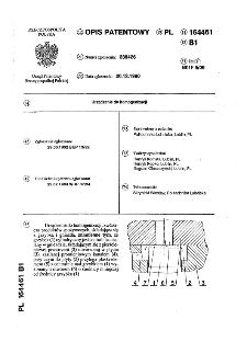 Urządzenie do homogenizacji : opis patentowy nr 164461