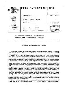 Urządzenie do mechanicznego krajania pieczywa : opis patentowy nr 86190