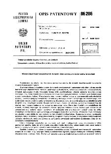 Wyciszona prowadnica prętów do tokarek rewolwerowych i automatów tokarskich : opis patentowy nr 86286