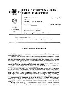 Urządzenie do dozowania i orientowania nitów : opis patentowy patentu tymczasowego nr 88153