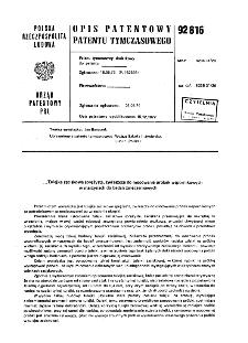 Tulejka zaciskowa sprężysta, zwłaszcza do mocowania próbek wspornikowych w maszynach do badań zmęczeniowych : opis patentowy patentu tymczasowego nr 92816