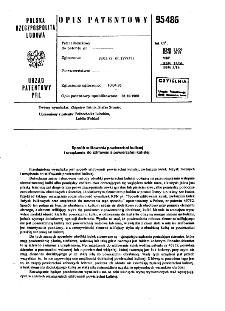 Sposób szlifowania powierzchni kuliltej i urządzenie do szlifowania powierzchni kulistej : opis patentowy nr 95486