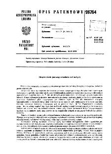 Urządzenie do jonowego trawienia ciał stałych : opis patentowy nr 98764