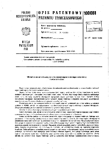 Układ do automatycznej synchronizacji zegara wtórnego dużej mocy z wzorcem czasu : opis patentowy patentu tymczasowego nr 100081