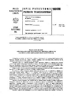 Urządzenie do obserwacji mikroskopowych składników strukturalnych materiałów metalicznych, ujawnionych metodą naparowywania substancją interferencyjną : opis patentowy patentu tymczasowego nr 100098