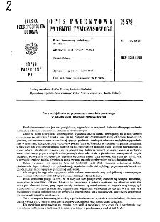 Rura podajnikowa do prowadzenia materiału prętowego w automatach i tokarkach rewolwerowych : opis patentowy patentu tymczasowego nr 75579
