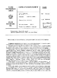 Głowica maszyny wytrzymałościowej, zwłaszcza do badań w komorach z termoregulacją : opis patentowy nr 75672