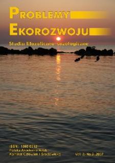 Problemy Ekorozwoju : studia filozoficzno-sozologiczne Vol. 2, Nr 2, 2007