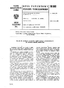 Suwak do ustalania wymiarów części maszyn przeznaczonych do montażu metodą selekcyjną : opis patentowy patentu tymczasowego nr 78560