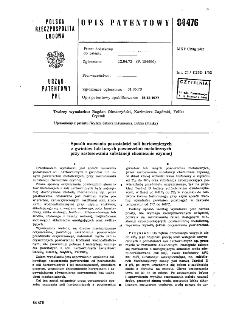 Sposób usuwania pozostałości soli hartowniczych z gwintów lub innych powierzchni metalicznych przy zastosowaniu substancji chemicznie czynnej : opis patentowy nr 84476