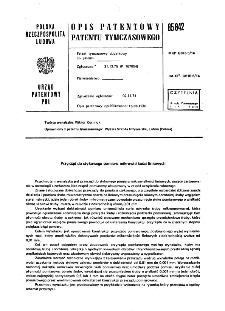 Przyrząd do stykowego pomiaru mikrowielkości liniowych : opis patentowy patentu tymczasowego nr 85842