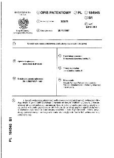 Sposób wykonania półsztywnej podbudowy nawierzchni drogowej : opis patentowy nr 184545