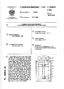 Urządzenie do oznaczania odkształceń i modułu sztywności mieszanek mineralno-bitumicznych : opis patentowy nr 184610