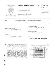 Urządzenie do pomiaru przewodności cieplnej ciała stałego : opis patentowy nr 196377