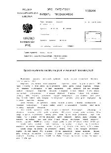 Sposób wywierania nacisku na grunt w warunkach laboratoryjnych : opis patentowy patentu tymczasowego nr 133944