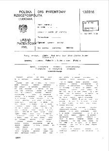 Sposób otrzymywania wersenianu sodowożelazowego l urządzenie do otrzymywania wersenianu sodowożelazowego : opis patentowy nr 135576