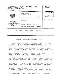 Elektrolizer do wytwarzania związków metali z metalu : opis patentowy nr 136234 : patent dodatkowy do patentu nr 116298