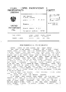 Sposób regeneracji kąpieli myjących alkalicznych : opis patentowy nr 136777