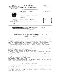 Urządzenie do zamrażania produktów reakji płazmochemicznych zwłaszcza tlenków azotu : opis patentowy patentu tymczasowego nr 119221