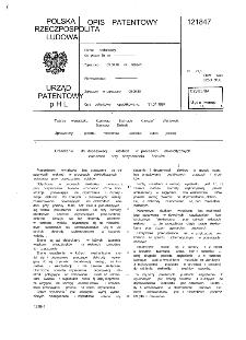 Urządzenie do depasywacji elektrod w procesach elektrolitycznych zwłaszcza przy oczyszczaniu ścieków : opis patentowy nr 121847