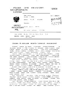 Urządzenie do wykonywania elementów budowlanych strunobetonowych : opis patentowy nr 126530 : patent dodatkowy do patentu nr 116782