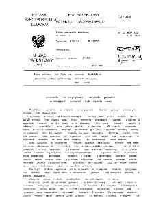 Urządzenie do otrzymywania mieszanin gazowych zawierających dowolnie małe stężenie ozonu : opis patentowy patentu tymczasowego nr 127946