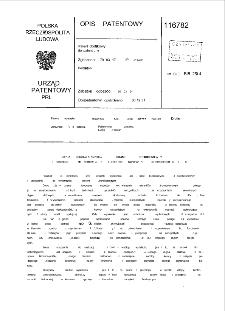 Sposób wykonania elementów budowlanych strunobetonowych i urządzenie do wykonywania elementów budowlanych strunobetonowych : opis patentowy nr 116782