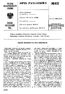 Łącznik dystansowy do form budowlanych : opis patentowy nr 140472
