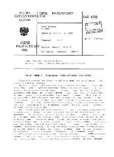 Sposób i urządzenie do wykonywania szybów betonowych monolitycznych : opis patentowy nr 140659