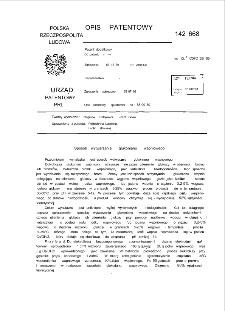 Sposób wytwarzania glukonianu wapniowego : opis patentowy nr 142668