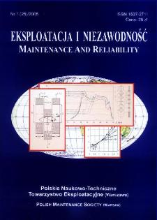 Eksploatacja i Niezawodność = Maintenance and Reliability Nr 1 (25)2005